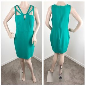 Forever 21 Plus green cage mini dress